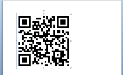 QR Code just after its been inserted in Word